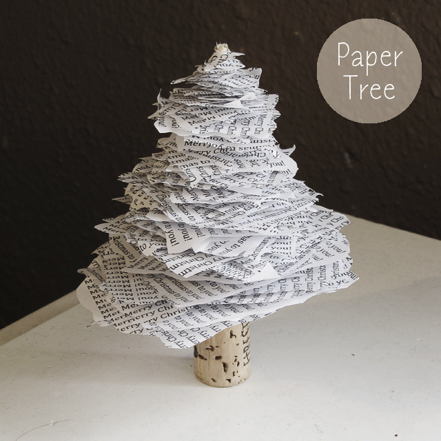 Christmas Tree Made By Paper: DIY Paper Christmas Tree