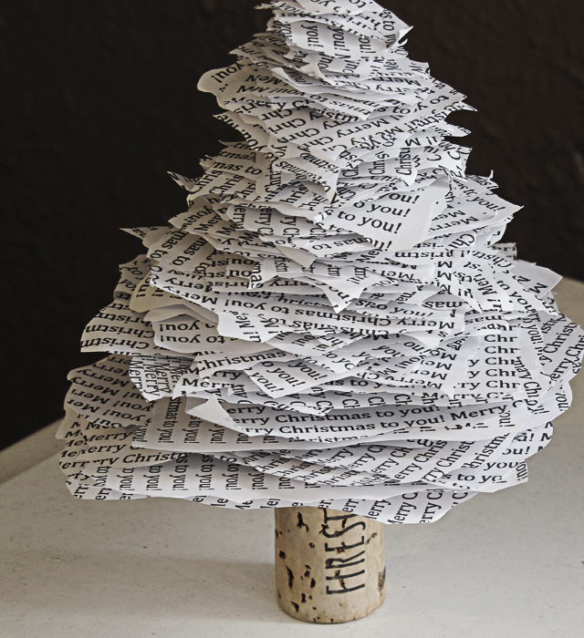 Christmas Tree Made Out Of Paper: DIY Paper Christmas Tree