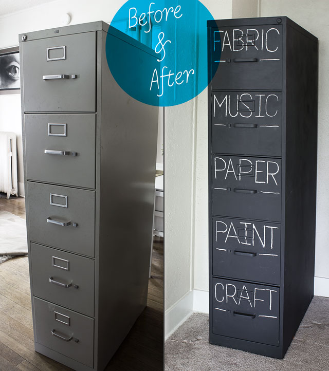 chalk paint on metal filing cabinet 2